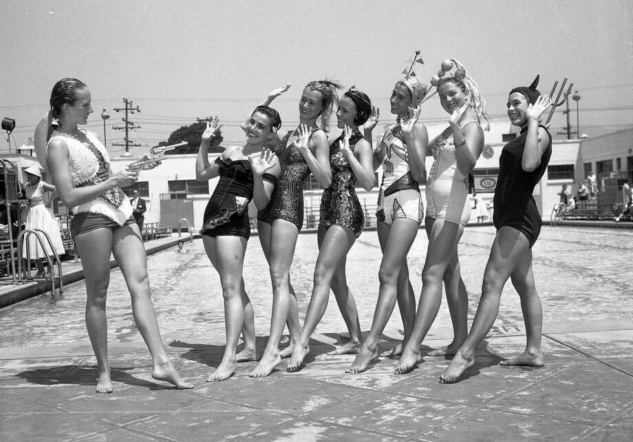 Aug. 6, 1957: The Aquacade was a water-themed variety show that debuted at the 1939 New York World's Fair and branched out in San Francisco and Marin. I'm not sure what's going on here, but I'd definitely pay to find out. (Chronicle file)