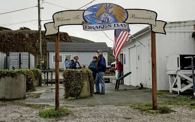Visitors stop by to talk with the staff of the Drakes Bay Oyster Company, in Point Reyes, Calif. on Saturday Dec. 1, 2012. The Drakes Bay Oyster Company received notice that U.S. Secretary of the Interior Salazar will not renew their lease and they now have 90 days of harvesting and selling their stockpile of oysters before having to vacate the historic Drakes Bay location. Photo: Michael Macor, The Chronicle