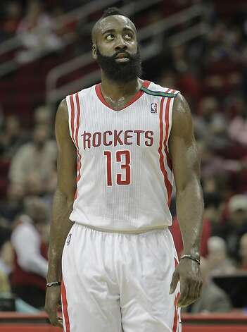 James Harden gets more money from the Rockets, but likely fewer playoff games. Photo: Bob Levey, Associated Press