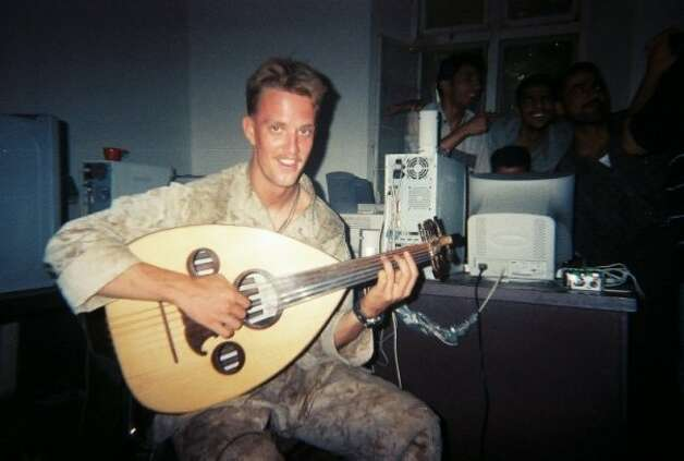 "Composer and Marine Jason Sagebiel, who fought in Iraq, says a brain injury ""is how I got back into music."" Photo: Courtesy Photo"