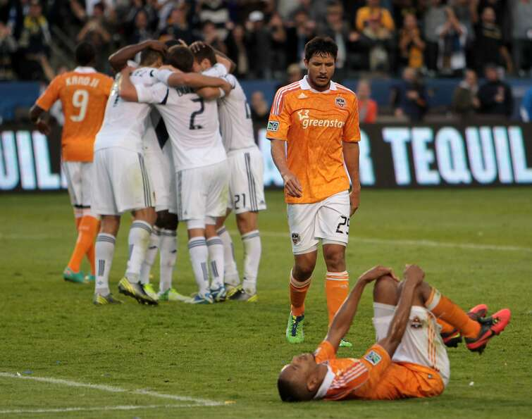 The Galaxy celebrate their second consecutive MLS Cup.