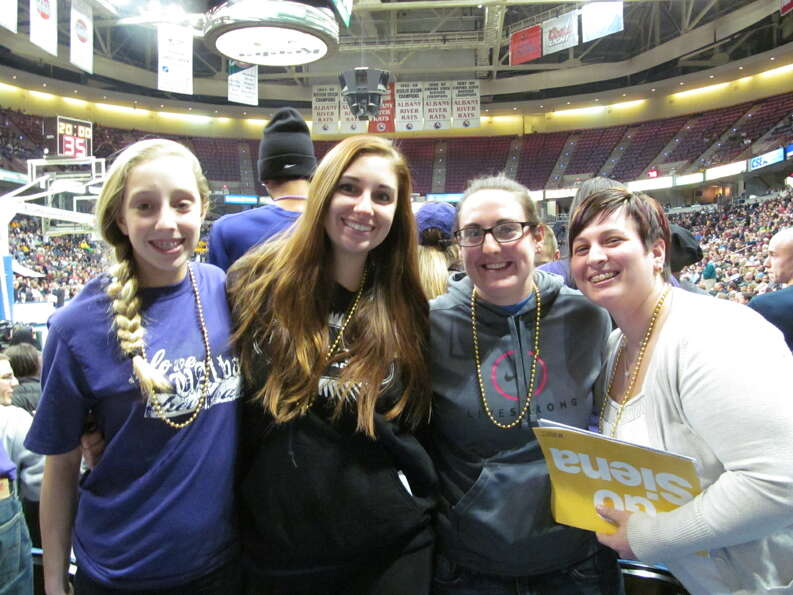 Were you Seen at the UAlbany vs. Siena basketball game at the Times Union Center in Albany on Saturd