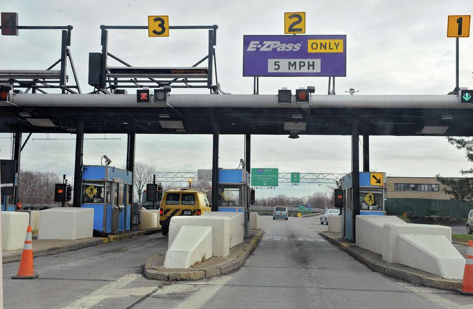 NYS Thruway toll booths at exit 23 on Tuesday Nov. 28, 2012 in Albany, N.Y.  (Lori Van Buren / Times Union) Photo: Lori Van Buren