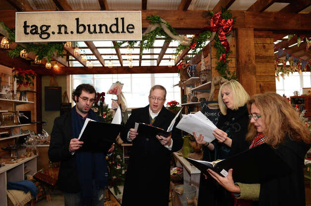 Carolers perform at the SoNo Market Place, an indoor European style market located at 314 Wilson Avenue in Norwalk on Saturday, Dec. 1, 2012. Photo: Amy Mortensen / Connecticut Post Freelance