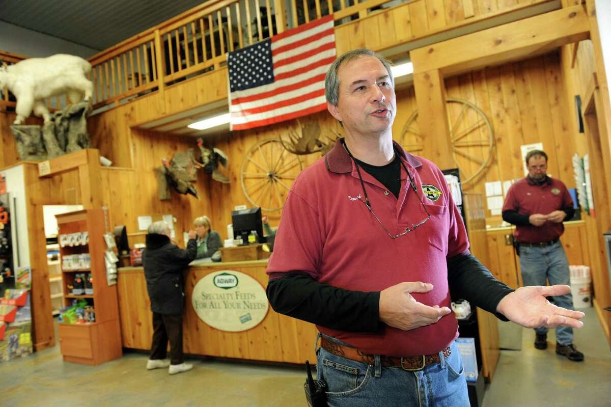 Manager David Spence talks about the uptick in business on Tuesday, Nov. 13, 2012, at Andre and Son Inc. in Montrose, Penn. (Cindy Schultz / Times Union)