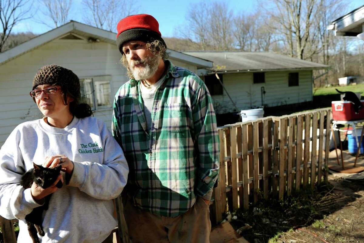 Doreen and John Tillman, owners of The Cluck Chicken Hatch, talk about their concerns of hydro-fracking on their organic farm business on Wednesday, Nov. 14, 2012, in Franklin Forks, Penn. (Cindy Schultz / Times Union)