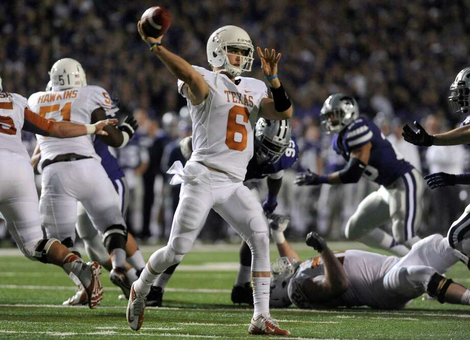 Kansas State 42, UT 24Texas quarterback Case McCoy during the first quarter. Photo: Evan Paul Semón, For The Houston Chronicle / Evan Semón