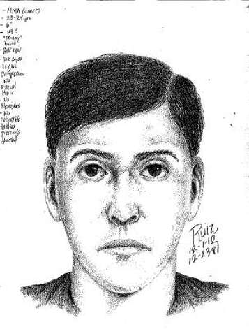 Los Gatos/Monte Sereno police released a sketch Saturday of one of several assailants wanted in connection with the slaying of a former winery owner inside his mansion. Photo: Handout