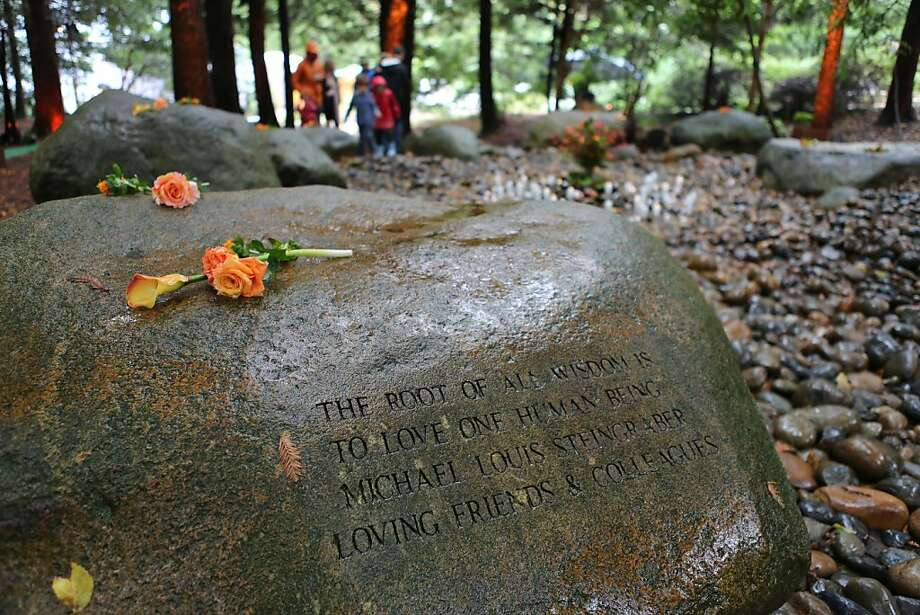 Boulders inside the AIDS Memorial Grove in Golden Gate Park are etched with words of wisdom and remembrance for those who have been affected by the HIV/AIDS disease. Saturday, Dec. 1, 2012 marked the 19th annual world AIDS day remembrance, with a national AIDS memorial service at the Grove designed to remember the dead and raise awareness for the living. Photo: Rashad Sisemore, The Chronicle