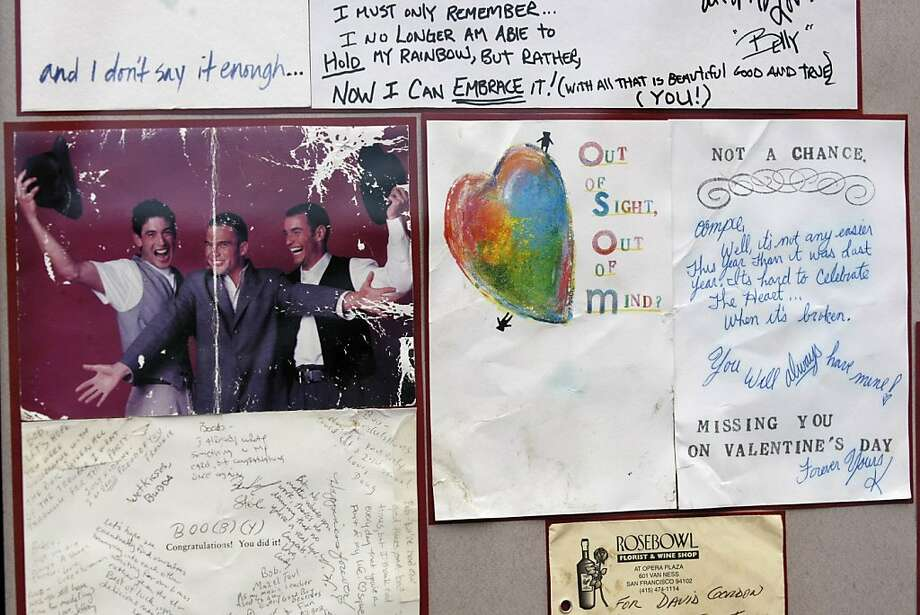 "Letters and mementos left by friends and family at the ""Circle of Friends"" at the AIDS Memorial Grove in Golden Gate Park, San Francisco, Calif. were put on display at the 19th Annual World AIDS Day commemoration as a reminder of those who have passed away from the HIV/AIDS disease. Photo: Rashad Sisemore, The Chronicle"