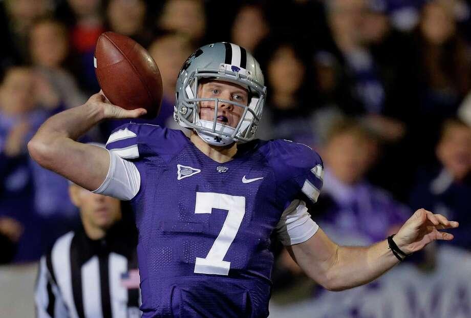 Kansas State quarterback Collin Klein throws against Texas, Dec. 1, 2012, in Manhattan, Kan. Photo: Charlie Riedel, Associated Press / AP