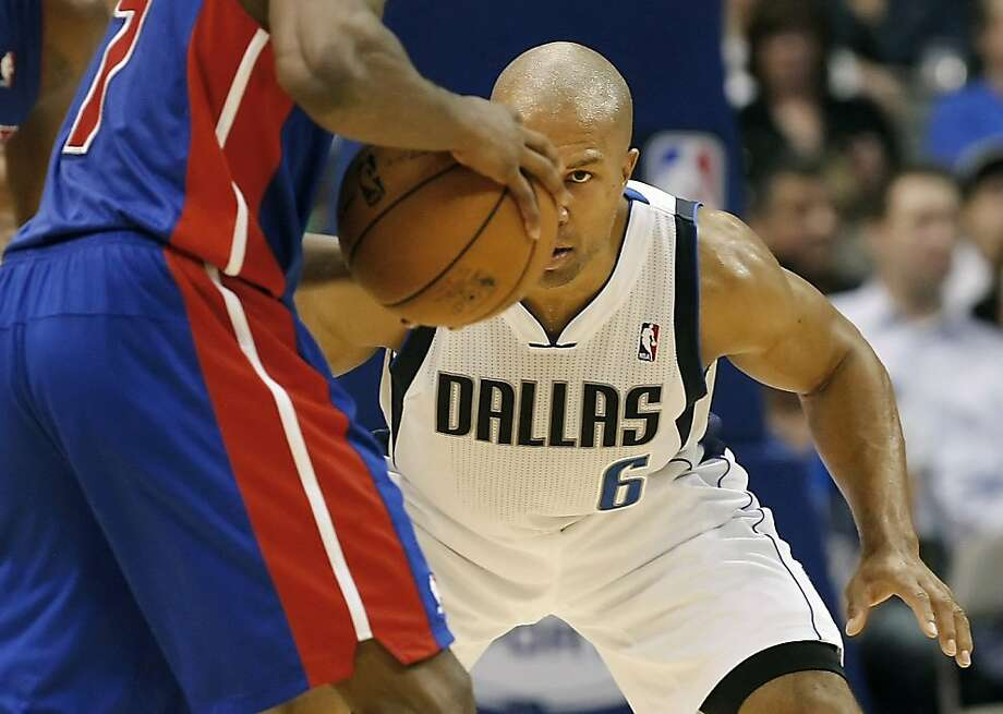 Dallas Mavericks guard Derek Fisher (6) defends against Detroit Pistons guard Brandon Knight during the second half of an NBA basketball game, Saturday, Dec. 1, 2012, in Dallas. The Mavericks won 92-77. This was Fisher's debut with the team. (AP Photo/Brandon Wade) Photo: Brandon Wade, Associated Press