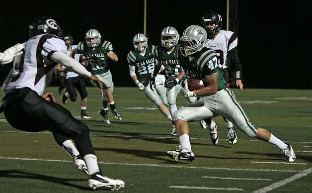 De La Salle (47) intercepts a Logan pass in the second quarter of ftheir NCS Division 1 title game Saturday Dec. 1, 2012, at Dublin High School in Dublin, California. Photo: Lance Iversen, The Chronicle