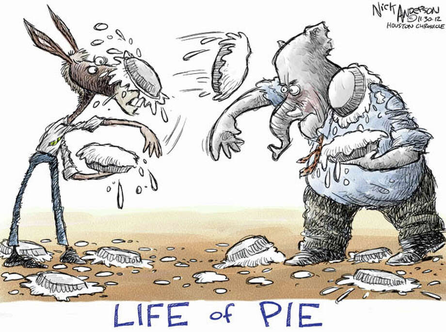 Food fight (Nick Anderson / Houston Chronicle)