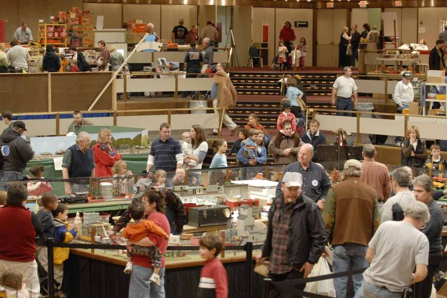 Times Union staff photo by Paul Buckowski ---      on Sunday, Dec. 2, 2007 during the Great Train Extravaganza 2007 at the Empire State Plaza Convention Center in Albany, NY.   The event brought 75 vendors together this year.  The event is held the first Sunday in December and is the put on by the Upstate Train Associates and it is their one fundraiser of the year.  The large working train display that the Upstate Train Associates have on display will move to the  Schenectady Museum and will be on display starting Dec. 8th and will be running on weekends and on holiday week so children off from school can view it.  It will be on display through January at the museum. (Hearst)