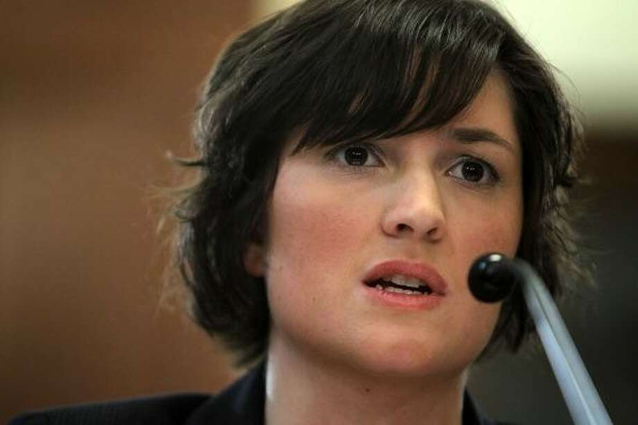 Sandra Fluke -- a reader suggestion.  The woman who took on Rush Limbaugh. Photo: Alex Wong, Getty Images / 2012 Getty Images