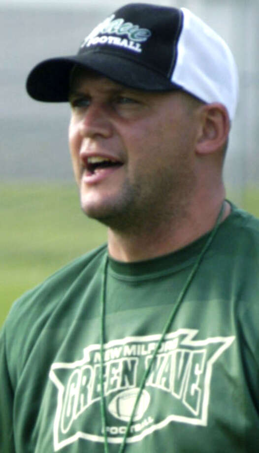 Coach Chuck Lynch stepped down in late November 2012 after 10 years at the helm of New Milford High School football. The Green Wave was 28-73 under his guidance, including 2-8 during his final season. Coach Lynch is a New Milford High graduate andformer Green Wave football player. Photo: Norm Cummings
