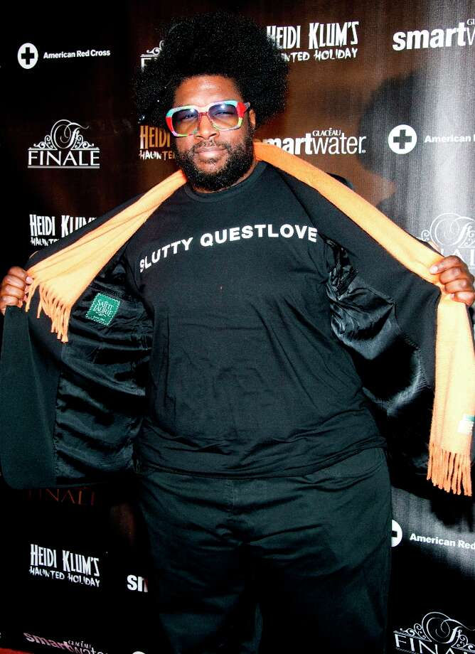 Questlove attends Heidi Klum's Haunted Holiday Party benefiting Superstorm Sandy relief efforts, on Saturday, Dec. 1, 2012 in New York. Photo: Charles Sykes, Charles Sykes/Invision/AP / Invision2012