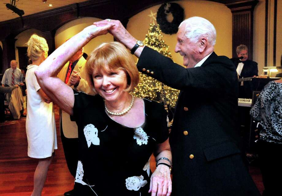 Aleen Norton and Ray Costanzo dance at the Winter Fest in Danbury Sunday, Dec. 2, 2012. Photo: Michael Duffy / The News-Times