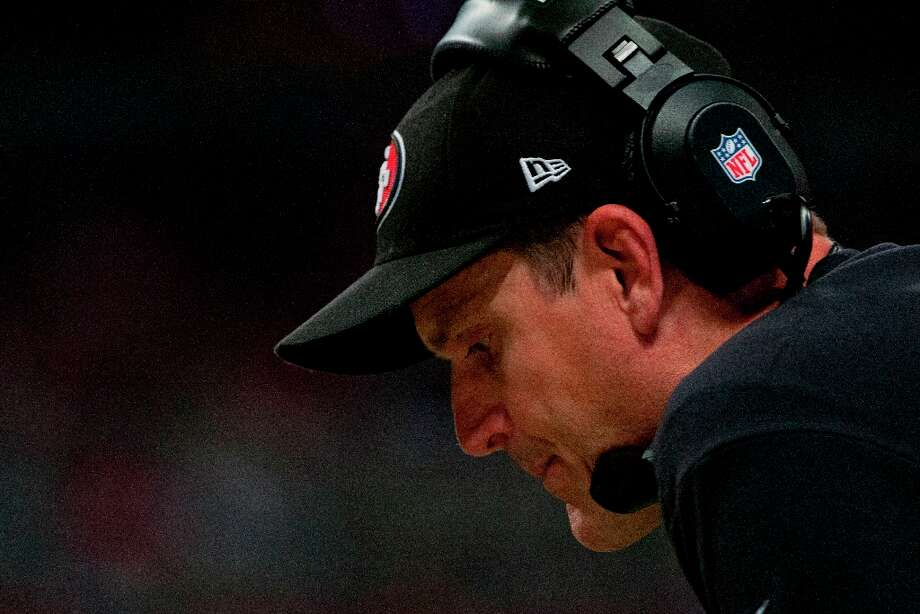 Head coach of the 49ers Jim Harbaugh  during the NFL game between the San Francisco 49ers vs the St. Louis Rams at the Edward Jones Dome in St. Louis Missouri.  (Danny Reise / SPECIAL TO THE CHRONICLE) Photo: Danny Reise, SFC / Danny Reise