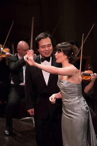 Both baritone Ao Li (left) and mezzo Laura Krumm were vibrant at the Adler Fellows gala. Photo: Kristen Loken