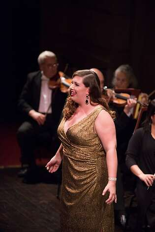 Soprano Marina Harris in the Adler Fellows Concert, Herbst Theatre, 11/30/12 Photo: Kristen Loken