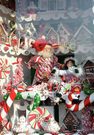 The decorated storefront of Hoagland's of Greenwich on Greenwich Avenue during the fourth annual Holiday Stroll Weekend on Sunday, Dec. 2, 2012. Photo: Amy Mortensen / Connecticut Post Freelance