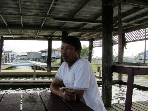 Crabber Dung Tran, a Vietnamese immigrant, says the Gulf oil spill destroyed 300 of his crab traps and diminished the harvest. Photo: Emily Pickrell