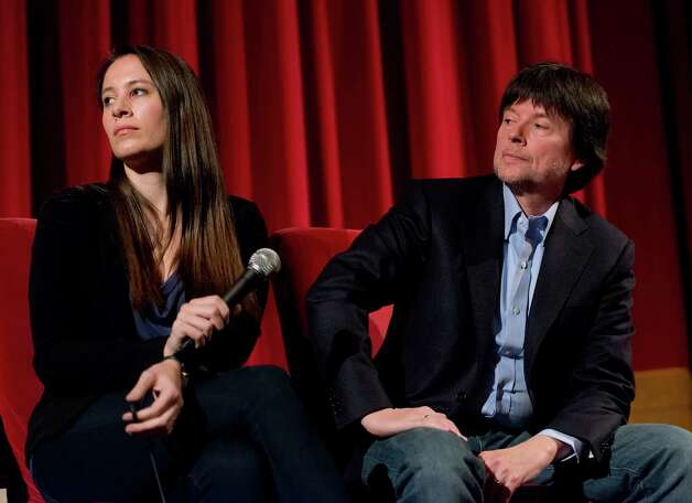 "Directors Sarah Burns and her father Ken Burns answer questions following a screening of their documentary film ""The Central Park Five"" at the Avon Theatre, Stamford, CT on Sunday December 2nd 2012. Photo: Mark Conrad / Stamford Advocate Freelance"