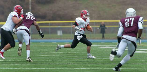 New Canaan high school vs Windsor high school in the CIAC class L semifinal football tournament game played at Bunnell high school, Stratford, CT on Sunday December 2nd, 2012. Photo: Mark Conrad / Stamford Advocate Freelance