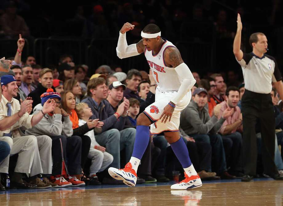 Fans like what they've seen from Carmelo Anthony and the Knicks at Madison Square Garden, where the team has yet to lose this season. Photo: Bruce Bennett, Staff / 2012 Getty Images