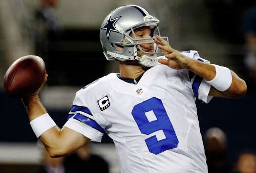 Dallas Cowboys quarterback Tony Romo (9) passes against the Philadelphia Eagles during the first half of an NFL football game, Sunday, Dec. 2, 2012, in Arlington, Texas. (AP Photo/Tony Gutierrez) Photo: Tony Gutierrez, Associated Press / AP