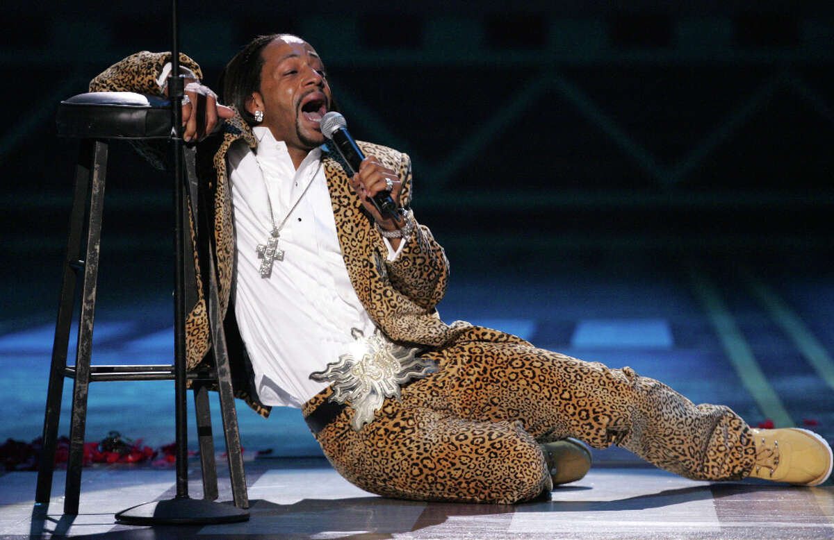 Comedian Katt Williams performs onstage at the 2005 BET Comedy Icon Awards at the Pasadena Civic Auditorium in Pasadena, Calif.