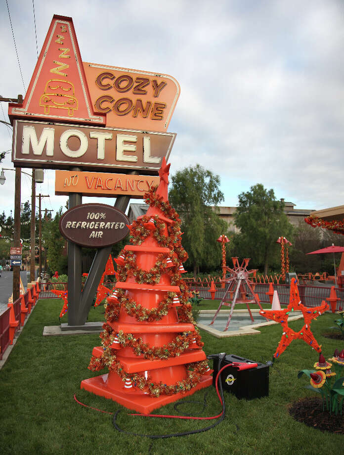 10) Zoom over to California Adventure's Cars Land to see Radiator Springs all decked out for its first-ever holiday season. Photo: Paul Hiffmeyer / ©2012 Disneyland Enterprises, Inc. All Rights Reserved. For editorial news use only.