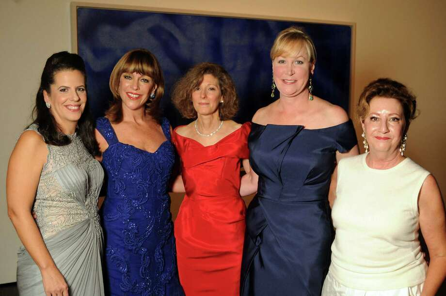 "Co-chairs Isabel Lummis, from left, Franci Crane, Susan de Menil, Sara Dodd-Spickelmier and Karen Pinson at the Menil Collection's 25th Anniversary  ""Celebration in Blue"" Gala. Photo: Dave Rossman, Freelance / © 2012 Dave Rossman"
