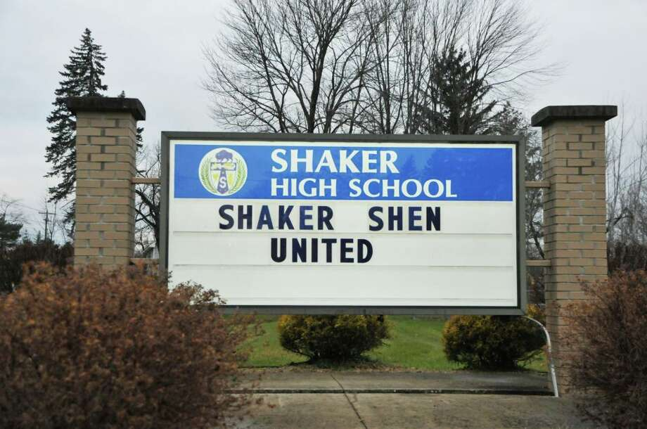 Sign outside Shaker High School