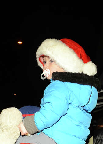 Sage Leger, 2, of Rowayton, waits for Santa during the annual Light up Rowayton holiday town lighting at Pinkney Park in Rowayton on Sunday, Dec. 2, 2012. Photo: Amy Mortensen / Connecticut Post Freelance