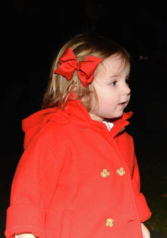 Annabelle Lifton, 2, of Darien, during the annual Light up Rowayton holiday town lighting at Pinkney Park in Rowayton on Sunday, Dec. 2, 2012. Photo: Amy Mortensen / Connecticut Post Freelance
