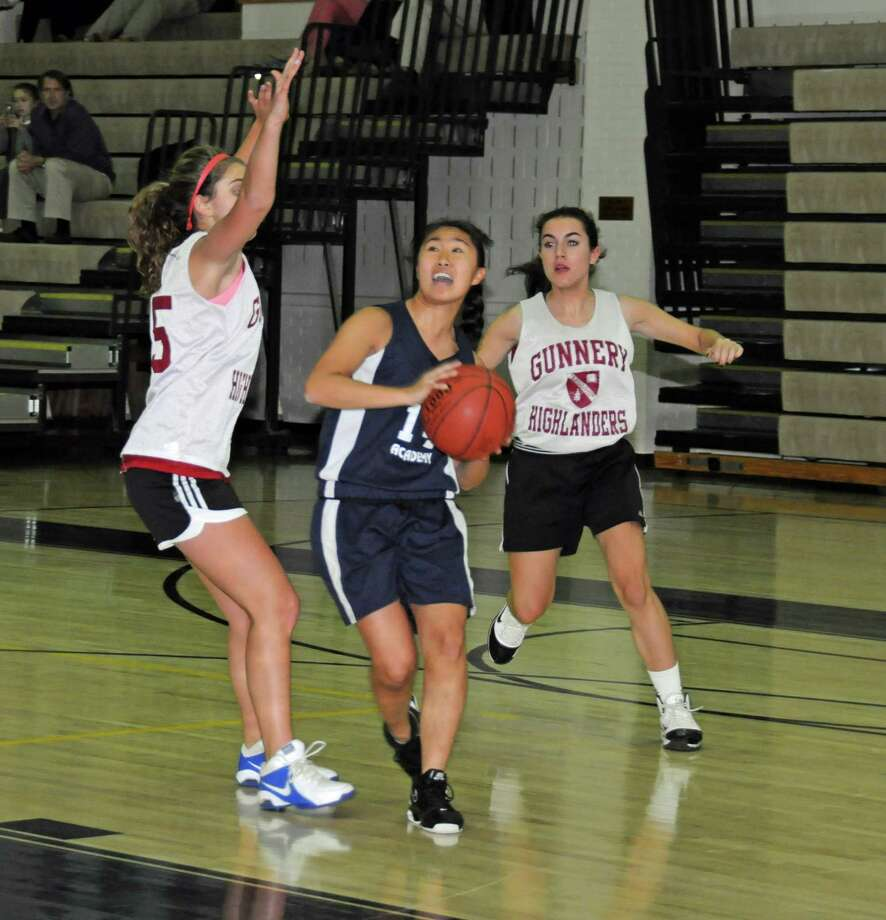 Senior Jessica Liu scored four points in the Greens Farms Academy girls basketball team's 43-24 win over The Gunnery on Nov. 28. Photo: Contributed Photo