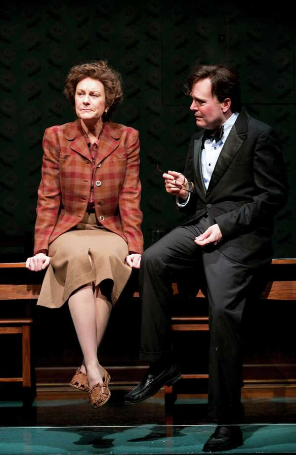 "Mary Beth Fisher and Jefferson Mays play the poets Elizabeth Bishop and Robert Lowell in the new Sarah Ruhl play ""Dear Elizabeth"" at Yale Repertory Theatre in New Haven through Dec. 22. Photo: Contributed Photo / Connecticut Post Contributed"