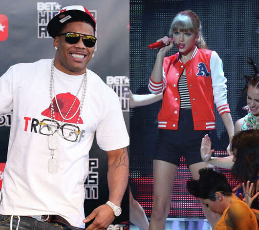 Talk about country grammar. Nelly joined Taylor Swift on stage during a 