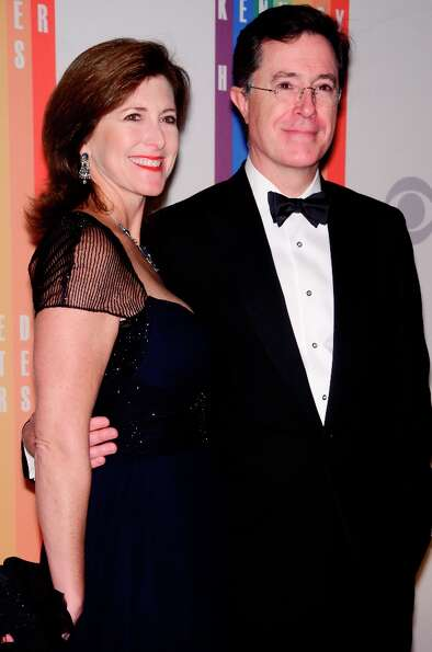 Evelyn McGee-Colbert and Stephen Colbert pose for photographers during the 35th Kennedy Center Honor