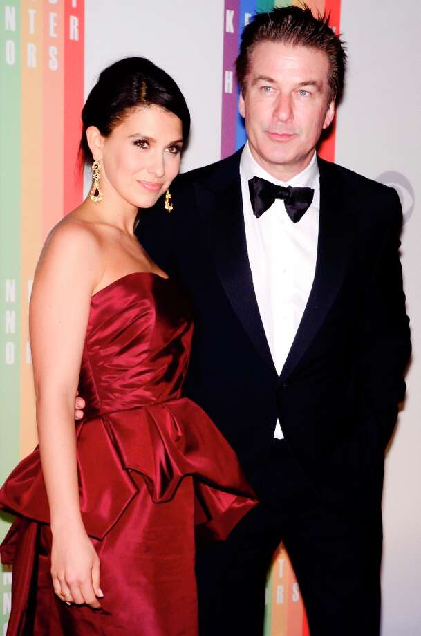 Hilaria Thomas and Alex Baldwin pose for photographers during the 35th Kennedy Center Honors at the Kennedy Center Hall of States on December 2, 2012 in Washington, DC. (Photo by Kris Connor/Getty Images) Photo: Kris Connor, Getty Images / 2012 Getty Images