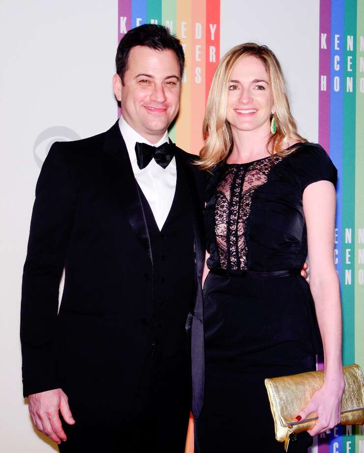Jimmy Kimmel and Molly McNearney pose for photographers during the 35th Kennedy Center Honors at the Kennedy Center Hall of States on December 2, 2012 in Washington, DC. (Photo by Kris Connor/Getty Images) Photo: Kris Connor, Getty Images / 2012 Getty Images