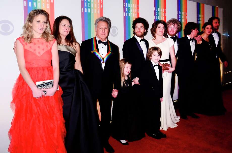 Lisa Hoffman and Dustin Hoffman pose with family members for photographers during the 35th Kennedy Center Honors at the Kennedy Center Hall of States on December 2, 2012 in Washington, DC. (Photo by Kris Connor/Getty Images) Photo: Kris Connor, Getty Images / 2012 Getty Images