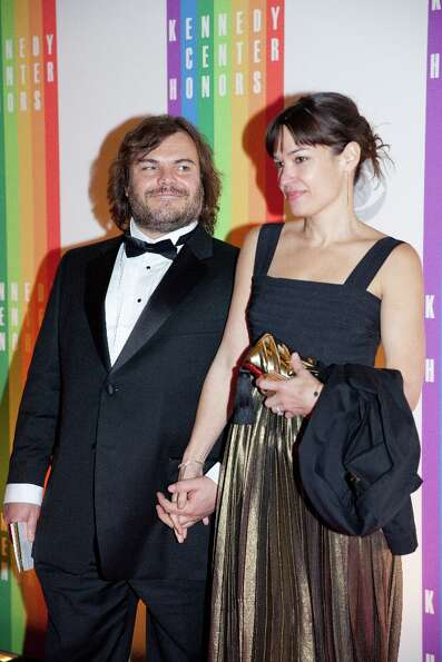 Actor Jack Black and his wife Tanya Haden arrive at the 35th Kennedy Center Honors, at the Kennedy C
