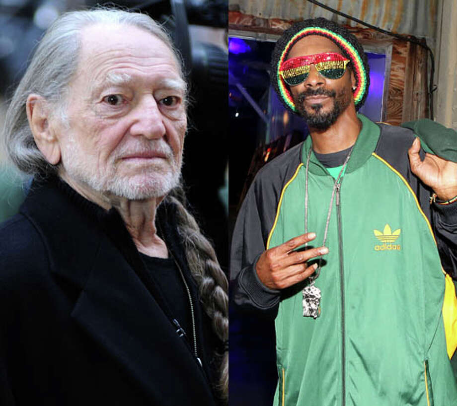 "Willie Nelson and Snoop Dogg. Hmmm. ...wonder what they have in common? Well, the two made ""My Medicine"" and ""Superman."" Photo: Slavin Vlasic/Getty And Casey Rodgers/AP"