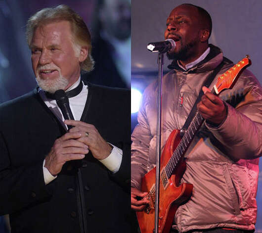 "Kenny Rogers should have folded them here. ""The Gambler"" remix with Wyclef Jean and Pharoahe Monch (who?) is just one big no.. Photo: Charlie Niebergull/AP And Bryan Bedder/Getty"