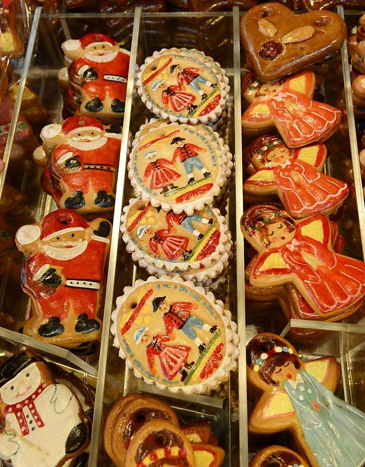 """Lebkuchen"" gingerbread cakes are for sale at a stand of the traditional Christmas Market in Nuremberg, southern Germany, on November 30, 2012. The traditional ""Nuernberger Christkindlesmarkt"" opens from November 30 to December 24, 2012. Photo: Christof Stache, AFP/Getty Images"