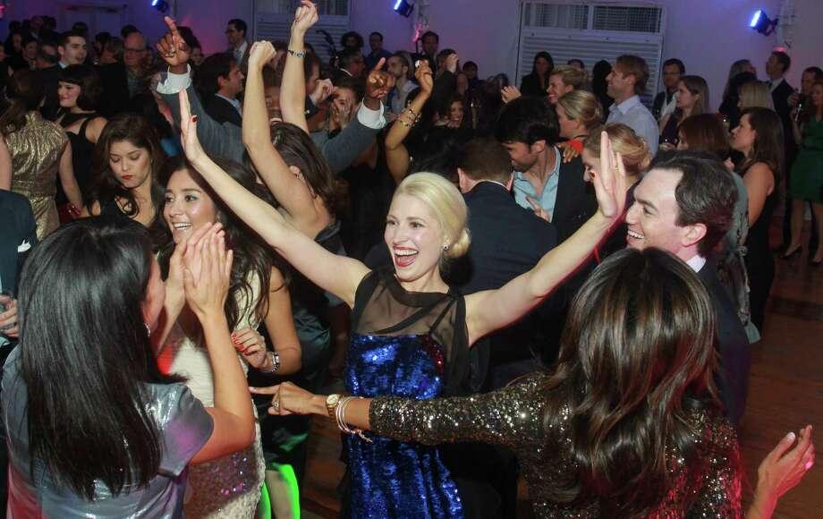"""Isabel David, center, dancing at """"Bleu Electrique."""" Photo: Gary Fountain, Freelance / Copyright 2012 Gary Fountain."""